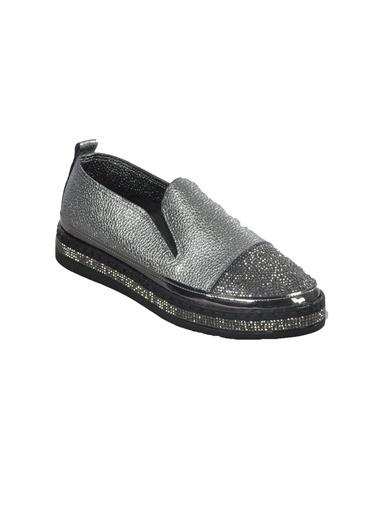 Mhd 2512 Platin Kadın Günlük Ayakkabı Gümüş